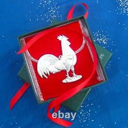 NEW Kirk-Stieff 1981 ROOSTER American Heritage Sterling Christmas Ornament