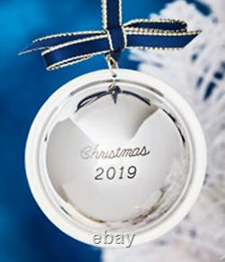 NEW Neiman Marcus 2019 Sterling Silver Saturn Ball Christmas Ornament Decoration