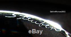 NEW in RED BOX STEUBEN glass 5lb MISTLETOE ORNAMENT XMAS 18K GOLD SILVER PEARLS