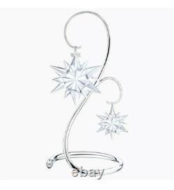 NIB Swarovski Christmas Silver Tone Large Ornament Home Display Stand #5191356
