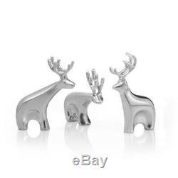 Nambe Miniature Blitzen Reindeer Set (MT1186)