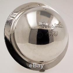 Neiman Marcus 1973 1st Sterling Silver Saturn Ball Christmas Ornament Decoration