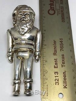 Neiman Marcus Sterling Silver 925 Xmas Santa Clause Ornament Q1