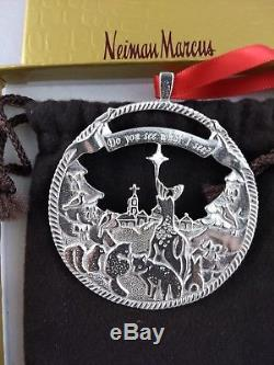 Neiman Marcus Sterling Silver Christmas Ornament New, Unused, withbox & bag RARE