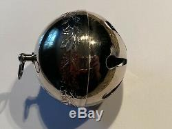 ORIGINAL 1st ED 1971 WALLACE SILVER SILVERPLATE SLEIGH BELL CHRISTMAS ORNAMENT