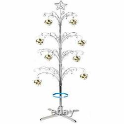 Ornament Display Stand Christmas Tree Rotating Metal Bauble Hook Hanger