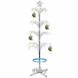 Ornament Display Stand Tree ChristmasRotating Metal Bauble Hook Hanger