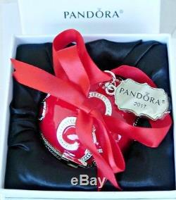 Pandora Black Friday Ornament Charm 2017 Red Enamel Christmas Limited Edition