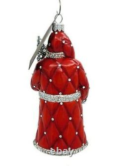 Patricia Breen Faubourg Santa Red Silver Christmas Tree Holiday Ornament