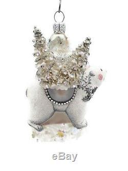 Patricia Breen Polar Clause Pearl Silver Santa Christmas Holiday Tree Ornament