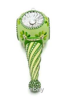 Patricia Breen Towle Reflector Mistletoe Ornament Silver Christmas Tree Jeweled