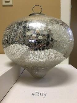Pottery Barn Large Antique Mercury Glass Onion Ornament 9 H x 31 Circumference