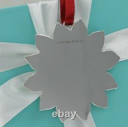 RARE & Beautiful! Vintage Tiffany Sterling Silver Poinsettia Christmas Ornament