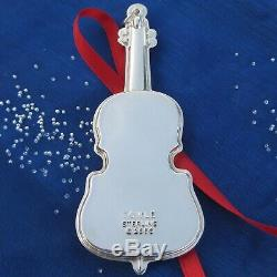 RARE NEW Towle Sterling Silver'MUSICAL CELLO' Christmas Ornament 1st ed