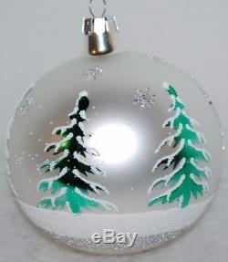 Radko SIBERIAN SLEIGHRIDE Christmas Ornament 86-010-1 VINTAGE SILVER COLOR