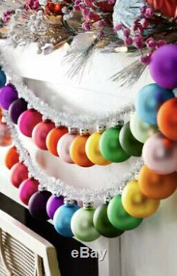 Rainbow Glass Ball Ornaments Garland In Silver By Cody Foster Set Of 2