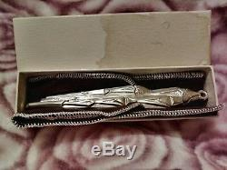 Rare 1973 #441 Gorham Icicle Sterling Silver Christmas Ornament withBox and Pouch