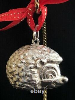 Rare Excellent! Cazenovia Rm Trush Sterling Silver Hedge Hog Puffy Ornament