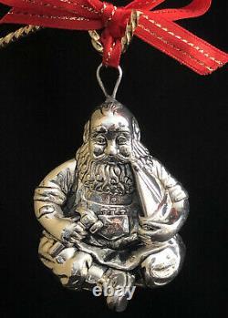 Rare Excellent! Cazenovia Rm Trush Sterling Silver Santa Puffy Ornament