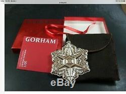 Rare Gorham 2011 Sterling Silver Snowflake Christmas Ornament