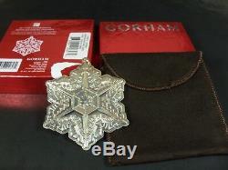 Rare Gorham 2011 Sterling Silver Snowflake Christmas Ornament