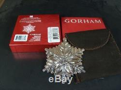 Rare Gorham 2012 Sterling Silver Snowflake Christmas Ornament
