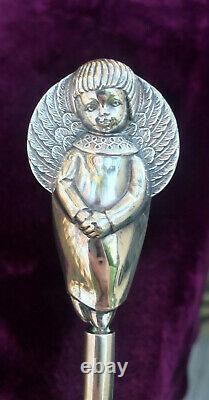 Rare Sterling Silver Angel Mini Christmas Tree Top Ornament Trush Cazenovia