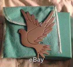 Rare Tiffany & Co Sterling Silver Paloma Picasso Dove Bird Christmas Ornament