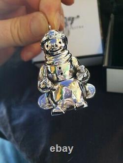 Rebecca Dykstra Sterling silver Christmas Ornament Snowman Rare 100 Made