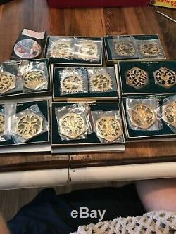 Reed & Barton 12 Days Of Christmas Ornament Set With Original Boxes Flora Vtg Lot