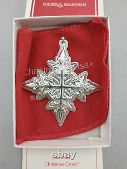 Reed & Barton 1982 Sterling Silver Christmas Cross Ornament MINT, Unused, withBox