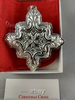 Reed & Barton 1993 Sterling Silver Christmas Cross Ornament New, Unused, withBox