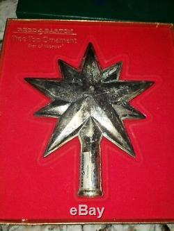 Reed & Barton Tree Top Ornament Star of Wonder Silver Plate Christmas Topper Box