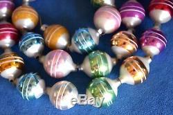 Retired CHRISTOPHER RADKO Silver Christmas Balls Tree Ornament Retro Garland