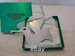 Retired JAMES AVERY Sterling Silver DOVE Christmas Ornament