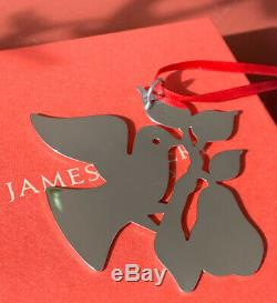 Retired James Avery 925SS Partridge in a Pear Tree Christmas Ornament Gift Box