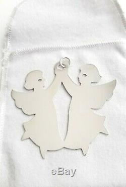 Retired James Avery Sterling Silver Dancing Angels Christmas Ornament With Box