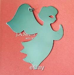 Retired James Avery Sterling Silver Praying Angel Christmas Ornament