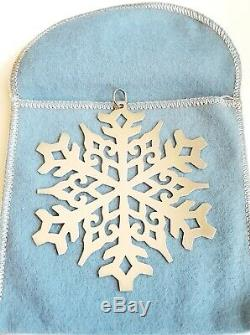 Retired James Avery Sterling Silver Snowflake Christmas Ornament With Box