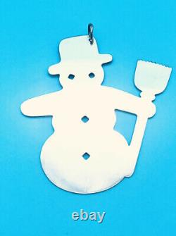 Retired James Avery Sterling Silver Snowman Christmas Ornament