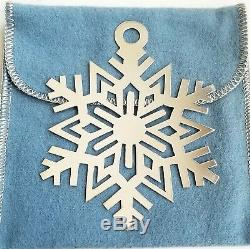 Retired & Rare James Avery Sterling Silver Snowflake Christmas Ornament With Box