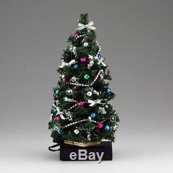 SALE Doll House Shoppe Lighted Silver Jewel Christmas Tree dhs49142 Miniature