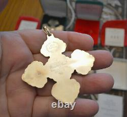 SIX Reed & Barton Sterling Silver Christmas Cross Ornaments 1972 1996