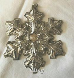 Set of 8 Gorham Sterling Silver Christmas Snowflakes Various Years (80s & 90s)