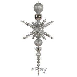 Silver Plastic 76-inch 3-finish Snowflake Finial Ornament