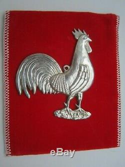 Sterling Kirk Stieff Christmas Ornament American Heritage Rooster 1981
