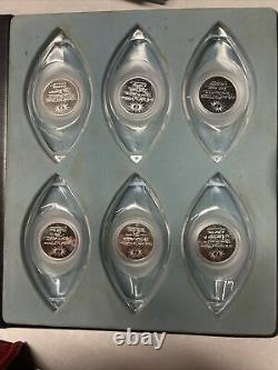 Sterling Silver 12 Days of Christmas Collectible Ornament Set Rare Vintage