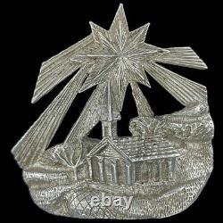 Sterling Silver 925 Rare Christmas Ornament Handmade Xmas Lincoln Mint Nativity