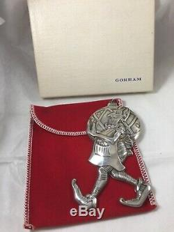Sterling Silver Gorham Christmas Treasures 1352 Santa's Helper Elf Ornament 1979