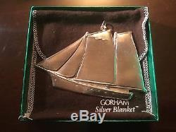 Sterling Silver Gorham Christmas Treasures 1984 84 Schooner Ornament & Box
